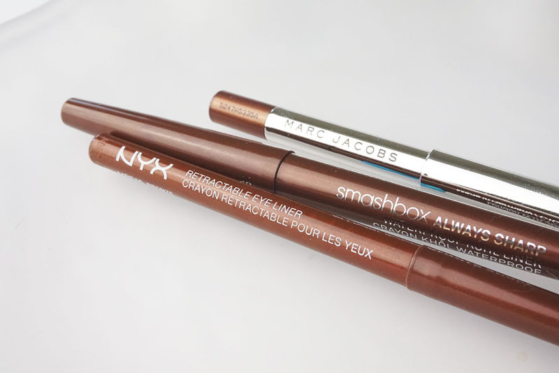 Bronze Liners: NYX, Smashbox, Marc Jacobs